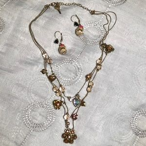 Betsy Johnson necklace & earrings